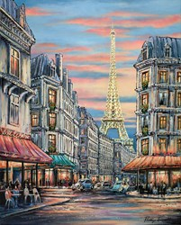 Ooh La La! by Phillip Bissell - Original Painting on Box Canvas sized 32x39 inches. Available from Whitewall Galleries